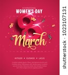 8 march. international women's... | Shutterstock .eps vector #1023107131