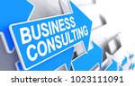 business consulting  label on... | Shutterstock . vector #1023111091
