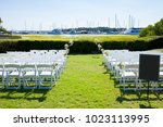 outdoor ceremony site for... | Shutterstock . vector #1023113995