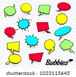 vector colored empty comic... | Shutterstock .eps vector #1023115645