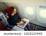 traveling and technology.... | Shutterstock . vector #1023121945