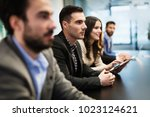 picture of business people... | Shutterstock . vector #1023124621