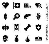 solid vector icon set   heart... | Shutterstock .eps vector #1023126874