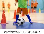 football futsal training for... | Shutterstock . vector #1023130075