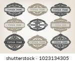 set of vintage frame with... | Shutterstock .eps vector #1023134305