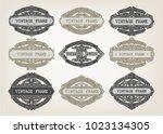 set of vintage frame with...   Shutterstock .eps vector #1023134305