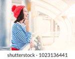 teenager travel in the city ... | Shutterstock . vector #1023136441