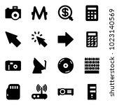 solid vector icon set   camera...   Shutterstock .eps vector #1023140569