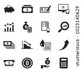solid black vector icon set  ... | Shutterstock .eps vector #1023140629