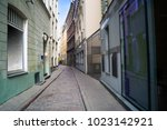 empty streets of the old town... | Shutterstock . vector #1023142921