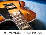 acoustic guitar close up in... | Shutterstock . vector #1023145099