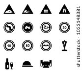 solid vector icon set   steep...   Shutterstock .eps vector #1023148381