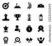solid vector icon set   target... | Shutterstock .eps vector #1023151045