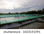 shrimp farms on the beach   Shutterstock . vector #1023151591