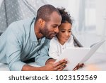 african american father and... | Shutterstock . vector #1023152569