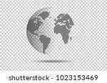 abstract world map global... | Shutterstock .eps vector #1023153469
