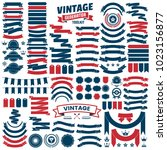 vintage retro vector logo for... | Shutterstock .eps vector #1023156877