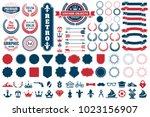 vintage retro vector logo for... | Shutterstock .eps vector #1023156907