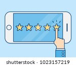 review rating. business concept ... | Shutterstock .eps vector #1023157219