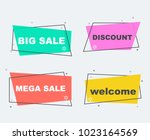 big sale collection flat linear ...   Shutterstock .eps vector #1023164569