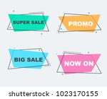 big sale  promo and super sale... | Shutterstock .eps vector #1023170155