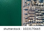 aerial view of tank farm for...   Shutterstock . vector #1023170665
