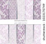 classic ornament pattern trendy ... | Shutterstock .eps vector #1023170749
