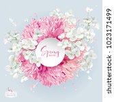 modern floral vector  art  ... | Shutterstock .eps vector #1023171499