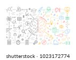 analytics and creativity in... | Shutterstock .eps vector #1023172774