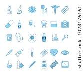 set of medicine icons | Shutterstock .eps vector #1023176161