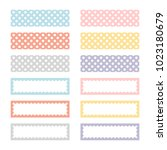 cute note papers  template for...   Shutterstock .eps vector #1023180679