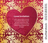 invitation template  background ... | Shutterstock .eps vector #1023183331