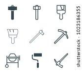 renovation icons. set of 9... | Shutterstock .eps vector #1023186355