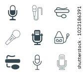 karaoke icons. set of 9... | Shutterstock .eps vector #1023186391