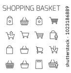 shopping basket related vector...   Shutterstock .eps vector #1023186889