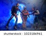man dressed in historical... | Shutterstock . vector #1023186961