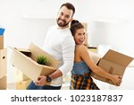 picture showing happy adult... | Shutterstock . vector #1023187837