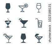margarita icons. set of 9... | Shutterstock .eps vector #1023188131
