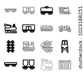 train icons. set of 16 editable ... | Shutterstock .eps vector #1023188251