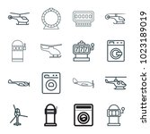 spin icons. set of 16 editable... | Shutterstock .eps vector #1023189019