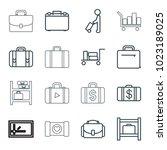 case icons. set of 16 editable...   Shutterstock .eps vector #1023189025