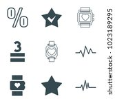 rate icons. set of 9 editable...   Shutterstock .eps vector #1023189295