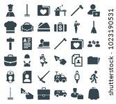 job icons. set of 36 editable...   Shutterstock .eps vector #1023190531