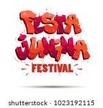 festa junina traditional brazil ... | Shutterstock .eps vector #1023192115