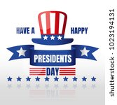 happy presidents day greeting...   Shutterstock .eps vector #1023194131