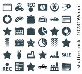 trendy icons. set of 36...
