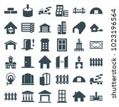 architecture icons. set of 36... | Shutterstock .eps vector #1023196564