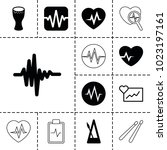 beat icons. set of 13 editable... | Shutterstock .eps vector #1023197161