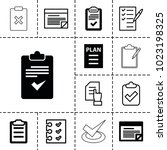 checklist icons. set of 13...   Shutterstock .eps vector #1023198325