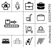 luggage icons. set of 13...   Shutterstock .eps vector #1023199795